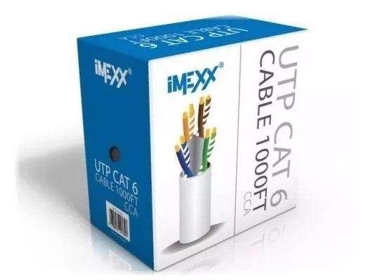 Cable Utp Bobina 305mt. Cat 6E / Cable De Red / Internet