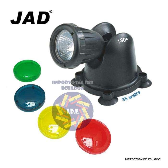 Luz lámpara sumergible 110 voltios ''nueva'' para estanques, cascadas, etc. / Marca Jad disponible en 35 y 50 watts