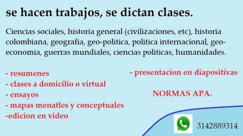Clases de Sociales, Historia, Afines