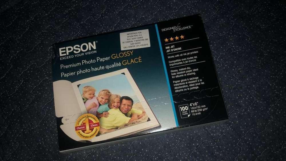 Papel Fotográfico Epson Premium Tamaño 4x6 - Tintas 376 para PM 525