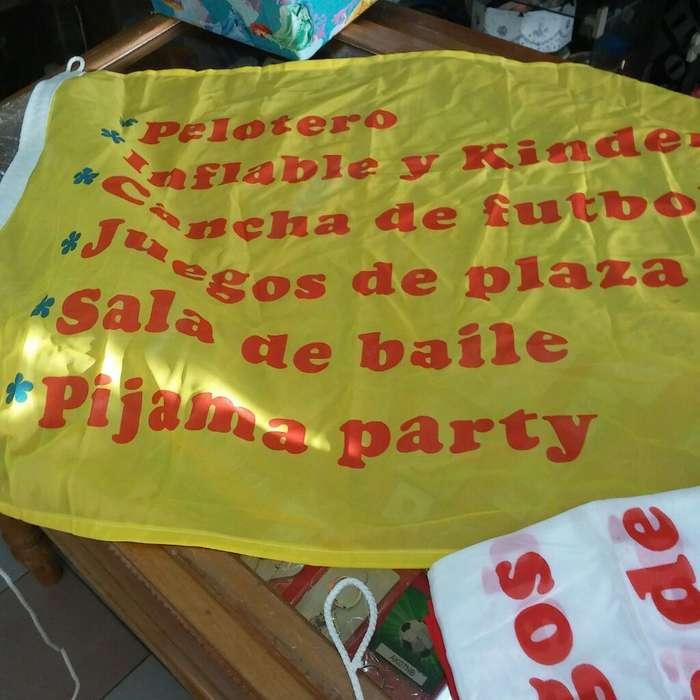 Banderas Multicolor para Salones Fiestas Infantiles