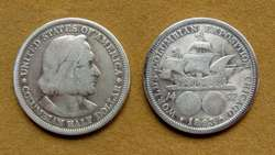 Moneda de ½ dólar de plata Estados Unidos 1893