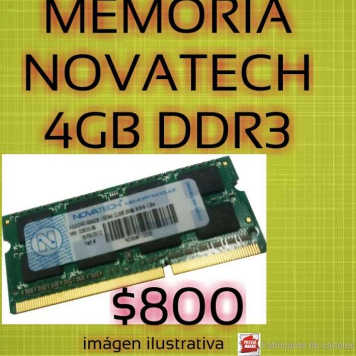Vendo Memoria de 4 Gb Ddr3