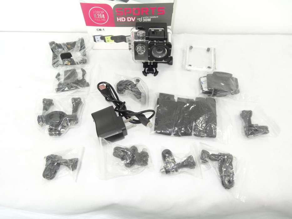 CAMARA SPORTS FULL HD 1080P LCD MEMORIA 32GB CON <strong>accesorios</strong> ID5332
