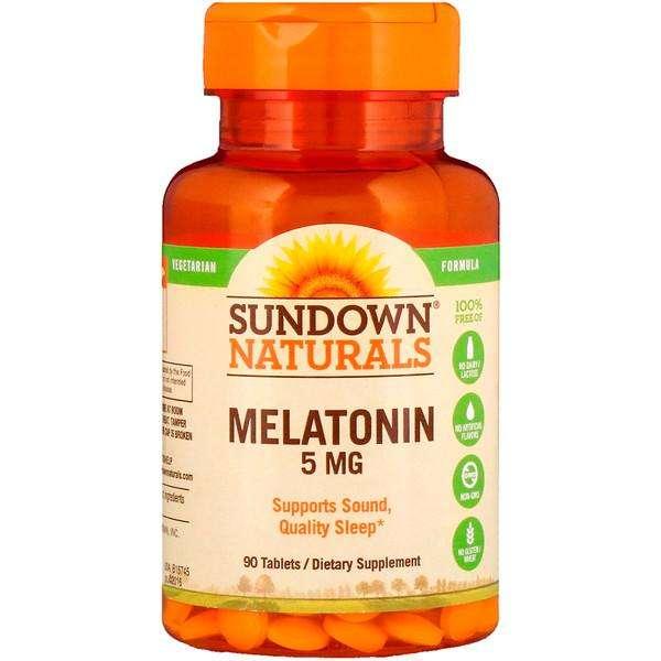 MELATONINA de 5 Miligramos marca Sundown