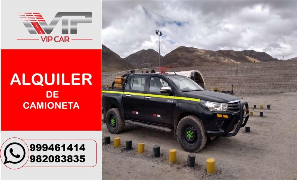 ALQUILER DE CAMIONETAS 4X4 TOYOTA HILUX, VAN, EN HUANCAYO/OROYA/CERRO DE PASCO/HUANCAVELICA