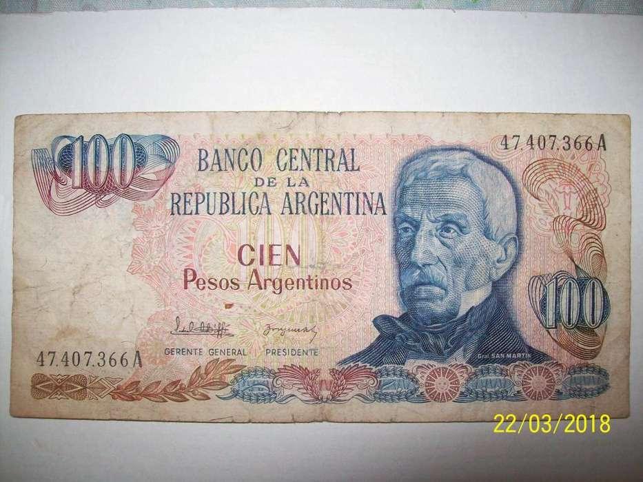 Billete de 100 Pesos Argentinos Año 1983