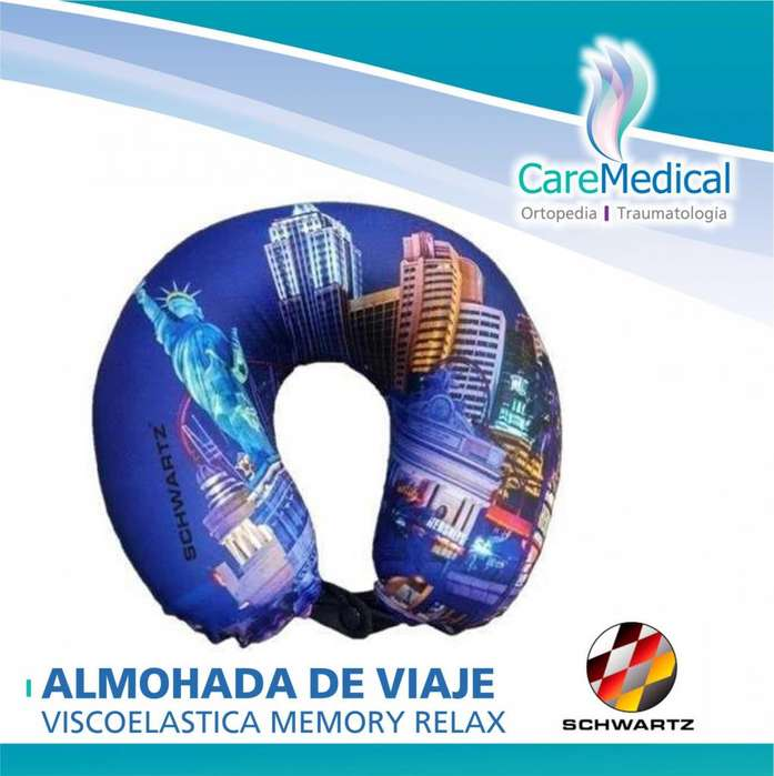 Almohada de Viaje Viscoelastica Memory Relax - SCHWARTZ - Ortopedia Care Medical