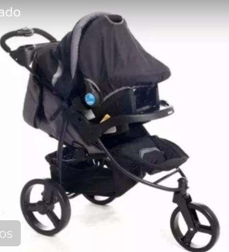 CocheHuevito Infanti P60 Travel System 3 ruedas color negro