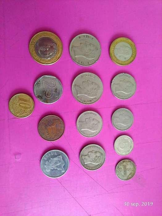 Monedas Antiguas de Venezuela Y Brasil