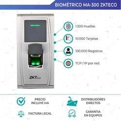 Lector De Huella. Control Acceso. Zkteco Ma300. Quito.