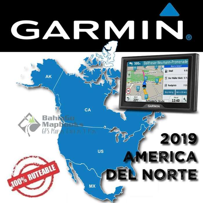 Mapa America del Norte para GPS Garmin 2019 USA Canadá México