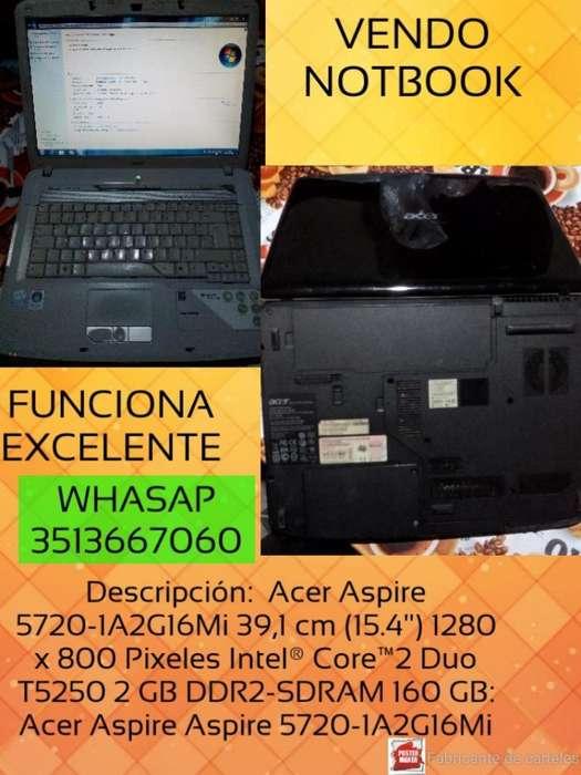 Vendo Notebook Acer Funciona Exelente