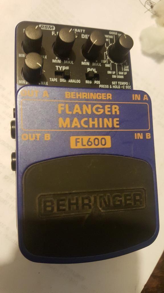 Pedal Flanger Machine Fl600 Behringer