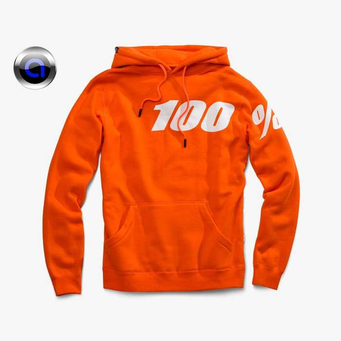Allbranding Sueter 100 BlackWhite classic orange