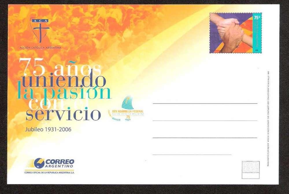ESTAMPILLAS. ENTERO POSTAL. ARGENTINA. MINT. TAR-175 ACCION CATOLICA