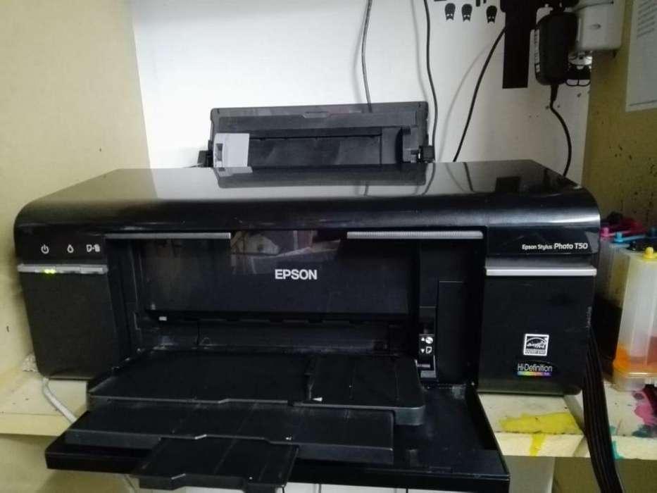 Impresora Epson Stylus Photo T50 - Cabezal nuevo! - C/Sistema continuo