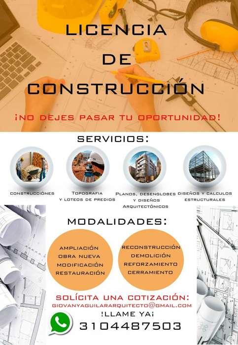 Servicios profesionales de arquitectura, ingeniería y desenglobes.