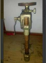 Antiguo Taladro Manual De Pedestal Con Avance Automático