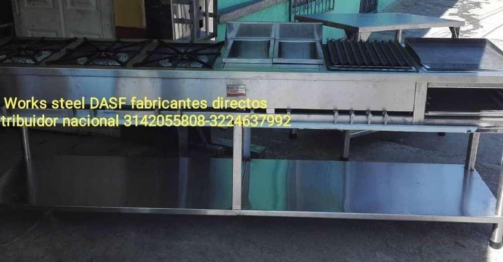 Estufas Industriales - Freidoras - Planchas - Parrillas - Mesas De Trabajo