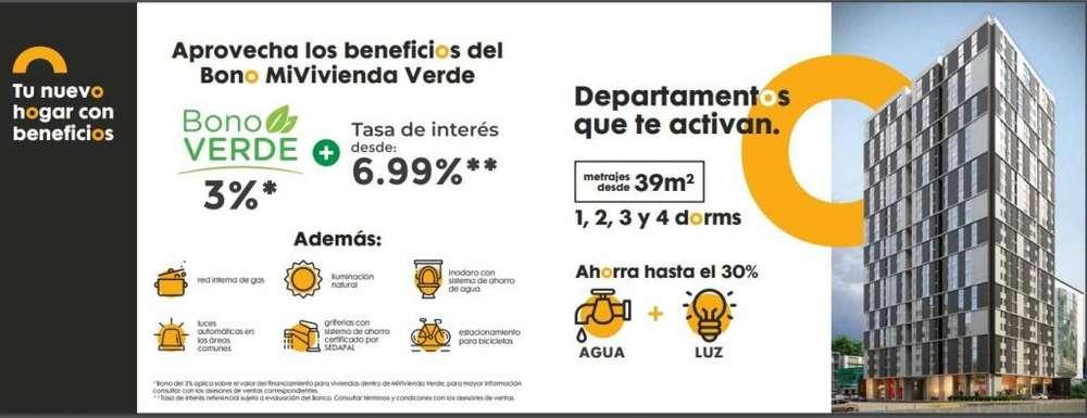 VENTA DE DEPARTAMENTO EN PROYECTO EXCELENTE INVERSIÓN