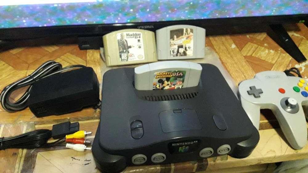 Nintendo64 con 3 Juegos Y 1 Control