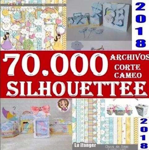 Kit 70.000 Siluetas Cameo Silhouette Scrapbook CAMEO Corte Cameo Letras Cajas
