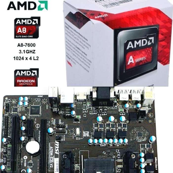 Combo Amd A8 3.1ghz- Motherboard - Ram