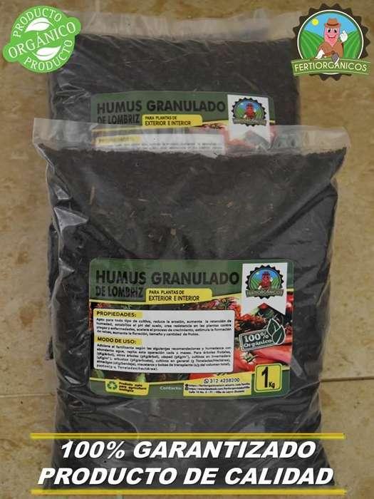 Humus Granulado De Lombriz Bolsa de 1 Kg