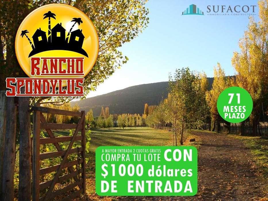 PRIMER PROYECTO CAMPESTRE EN ECUADOR CON AGUA,LUZ Y ÁREAS COMUNALES / CRÉDITO DIRECTO /SD3