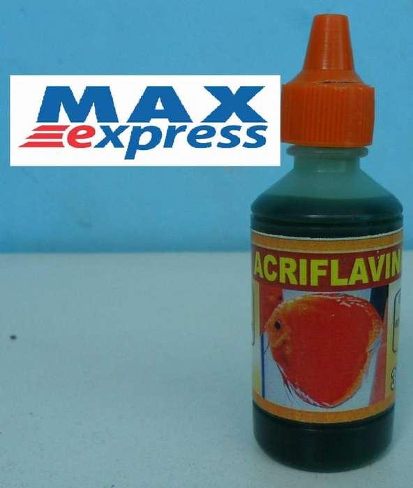 Acriflavina Reactivo Peces Acuario Pecera 30ml