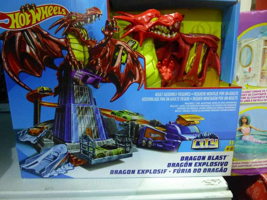 pista hotwheels Dragon Blast dragon explosivo Mattel