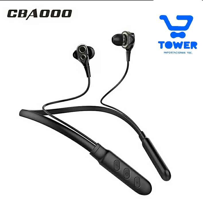 CBAOOO Two Bass B800 collarin deportivo Bluetooth V4.2 anillo doble bass HD estéreo