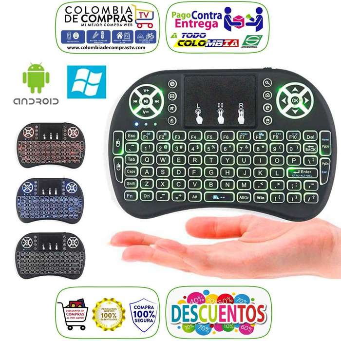 Mini Teclado Inalámbrico con Mouse Integrado Para Smart TV, Pcs, Smartphone, <strong>televisor</strong>es, Consolas, Nuevos