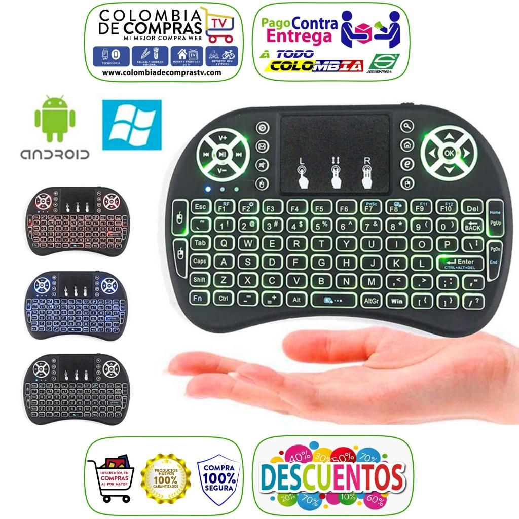Mini Teclado Inalámbrico con Mouse Integrado Para Smart TV, Pcs, Smartphone, Televisores, Consolas, Nuevos