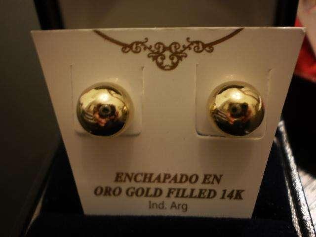 AROS BOLITA ENCHAPADOS EN <strong>oro</strong> 14K