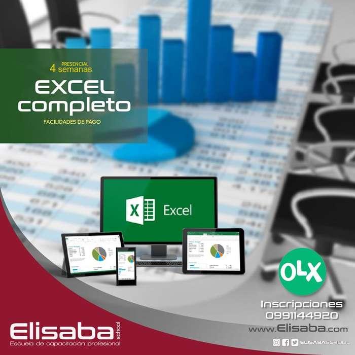Curso de Excel Completo 3 niveles (Básico-Intermedio-Avanzado) Elisaba School