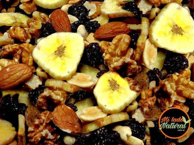 Frutos Secos, Mix Tropical(Nueces, Almendras, Bananas, Pasas, Maní y Ananá) 260