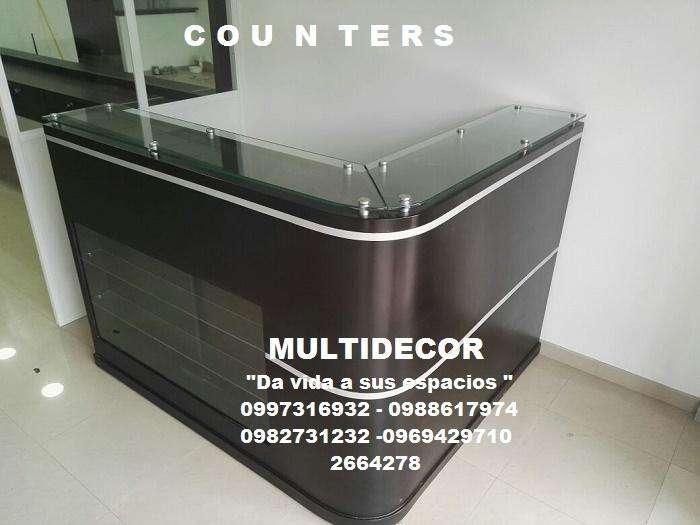 COUNTERS MUEBLES EN MADERA 2664278 0967047180 0969429710 MULTIDECOR