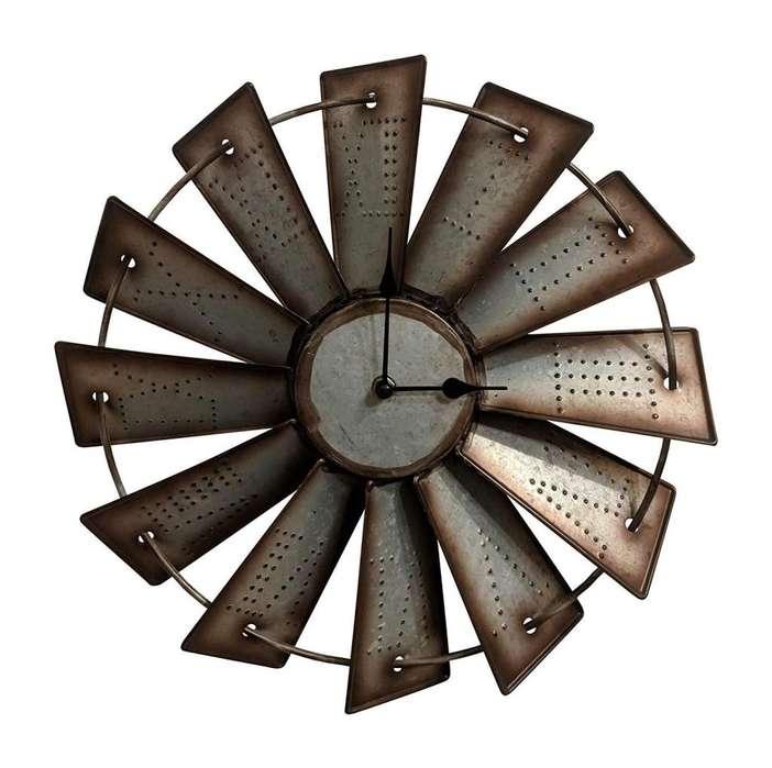 c5fb4aa858ed Reloj Pared Decoración Rústico Metal Molino 37 - 47 - 61 cm Envío Gratis