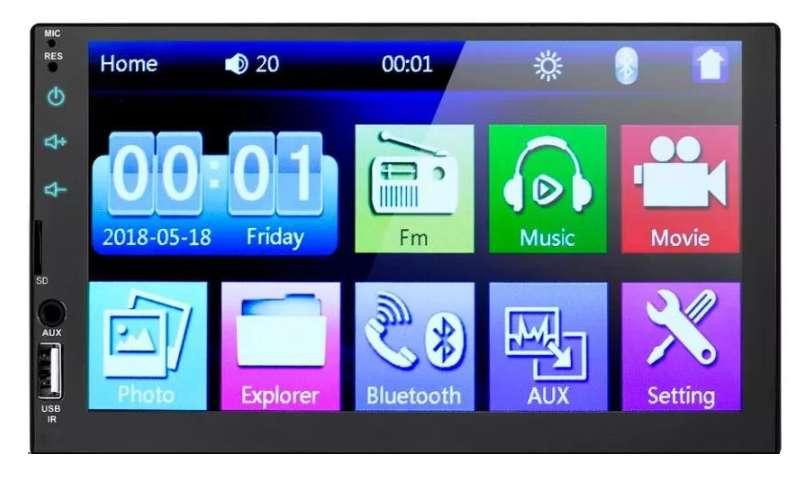 Radio para carro pantalla táctil de 7 pulgads bluetooth usb mirrolink 2 din nuevo