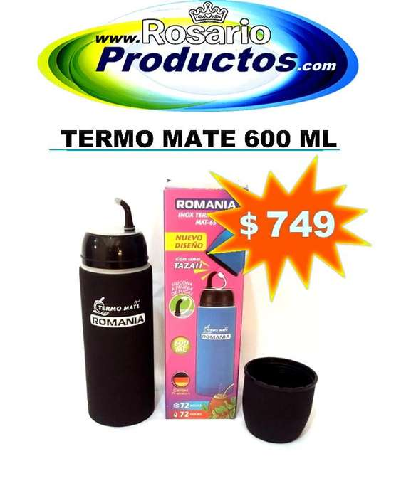TERMO MATE ACERO INOX. 600ml.