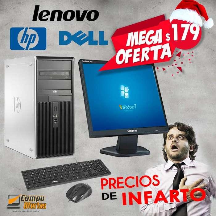 MIRA ESTA OFERTA...!! Computador Cyber de marca HP, DELL, LENOVO MONITORTECLADOMOUSEGARANTIA