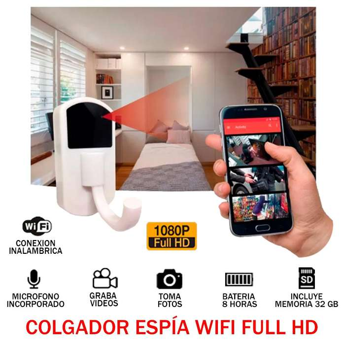 Camara Espia Perchero Colgador Full Hd 1080p Audio Y Video