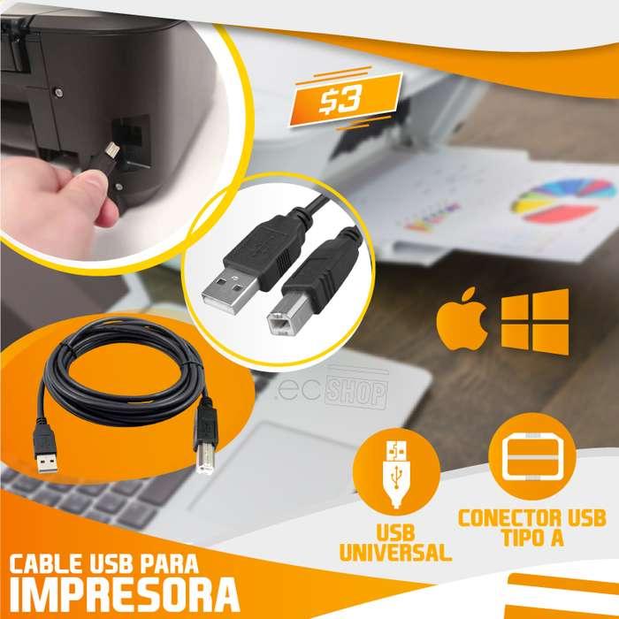 CABLE DE IMPRESORA 5MTS (USB a CONECTOR TIPO A)
