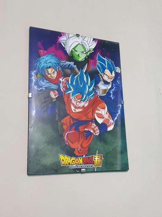 Poster enmarcardo de Dragon Ball Super