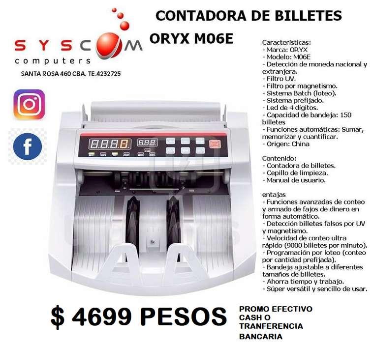 CONTADORAS DE BILLETES , DETECTA PESOS Y DOLARES FALSOS