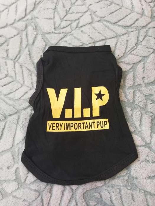 Camiseta tipo disfraz VIP perro talla S y XS