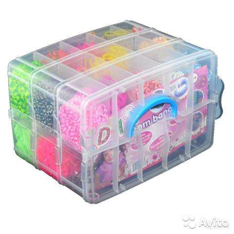Kit Loom Bands Original 5000 Ligas Telar Rainbow Maletín