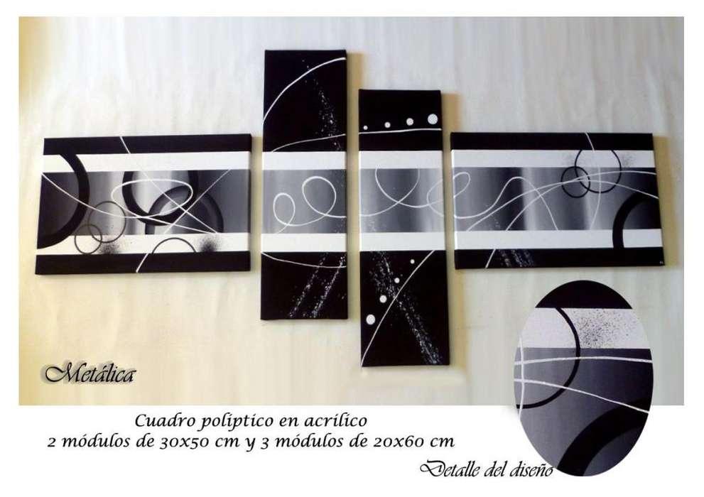 Bastidores <strong>cuadros</strong> pintados a mano, tripticos, polipticos, modernos, abstractos, minimalistas, decorativos y texturados